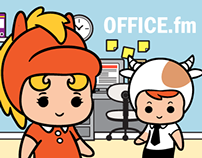OFFICE.fm - Animated Sticker Pack for WeChat