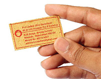 Innovative Visiting Cards for Dietician Priti Jadhav