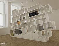 Mesh bookshelf...