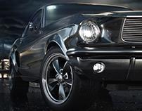 3D Mustang Bullit 60s