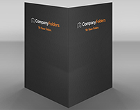 [Free PSD] Standing Business Folder Mockup Template