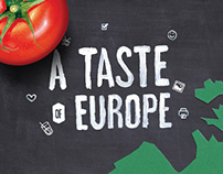 Graphic approach for 'A Taste of Europe' recipe site