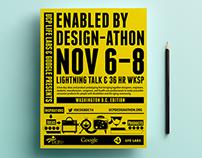 Design-athon Website and Print Material