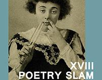 Cartel diseñado para el 18º poetry slam de Bilbao.