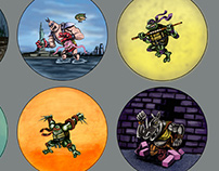 Teenage Mutant Ninja Turtle Button Designs