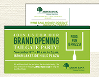 Arbor Bank Grand Opening Tailgate Postcard