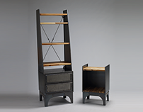 Riveted_industrial style bookcase
