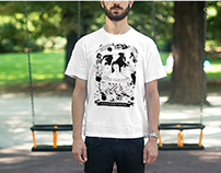 TUTTISANTI - serigraphy on tshirt