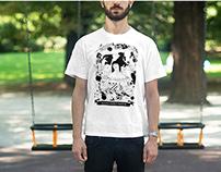 TUTTISANTI - serigraphy on tshirt