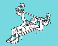 Business & Fitness Illustrations