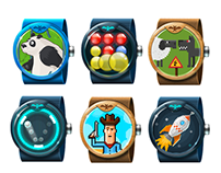 Android Wear Game icons