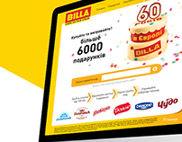 Promo site for BILLA