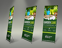 Garden Signage Roll-Up Banner Template