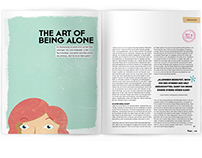 Editorial Design: the art of being alone
