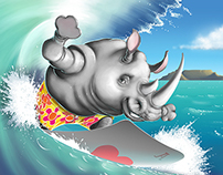 Surfing Rhino