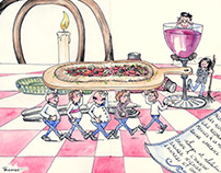 Bon Appetit - Foodie Illustration