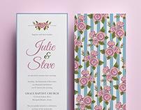 J&S wedding program