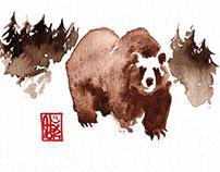 Animaux à l'aquarelle / watercolor animals