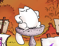Simon's Cat colouring competition