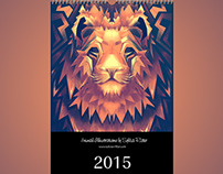 Animal Illustrations Calendar 2015