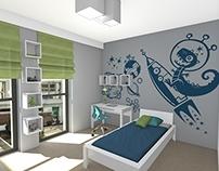 Pokój dziecięcy / Room for a boy (3 versions)