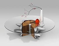 "Сoffee table ""Snowy dream"""