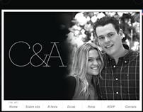 Site Casamento Caroline e Ale