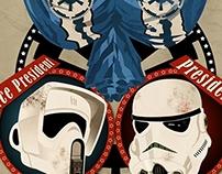Star Wars Presidential Champaign print