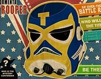 Stormtrooper retro style wrestling print