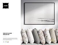 Row of Pillows Mockup
