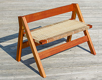 Folding Woven Bench