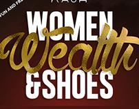 Women, Wealth, & Shoes Event Flyer