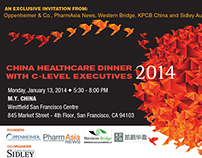 JP Morgan China Healthcare Dinner Invite