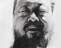Ai Weiwei, pencil drawing