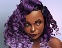 The Girl with the Purple Curls