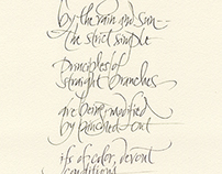 The Boticellian Trees Poem/Calligraphy