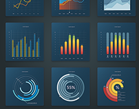 Infographic vector charts
