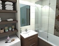 Mała łazienka w mieszkaniu / Bathroom in a flat