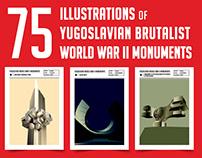 75 Illustrations of Yugoslavian Brtualist World War II