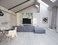 Simple Modern Cabin interior