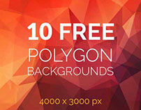 +10 Fresh Free Polygon Backgrounds