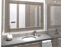 Łazienka w stylu glamour / Little glamorous bathroom