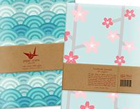Paper Crane Journals Packaging