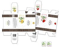Projekty opakowań herbat / Sir Charles tea packaging