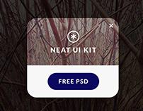 NEAT UI KIT - free PSD