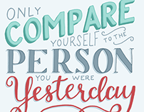 Only Compare Yourself...