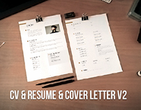 CV, resume, cover letter set v2 (word, psd, ai)