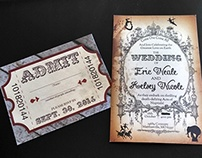 Circus Wedding Invitations