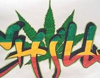 Chill graffiti jamaica style