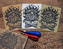 Campfire Tales - Block Print